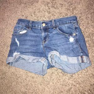 Old Navy medium wash jean shorts